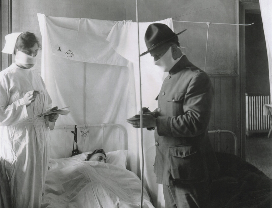 Spanish Influenza in American Army hospitals.